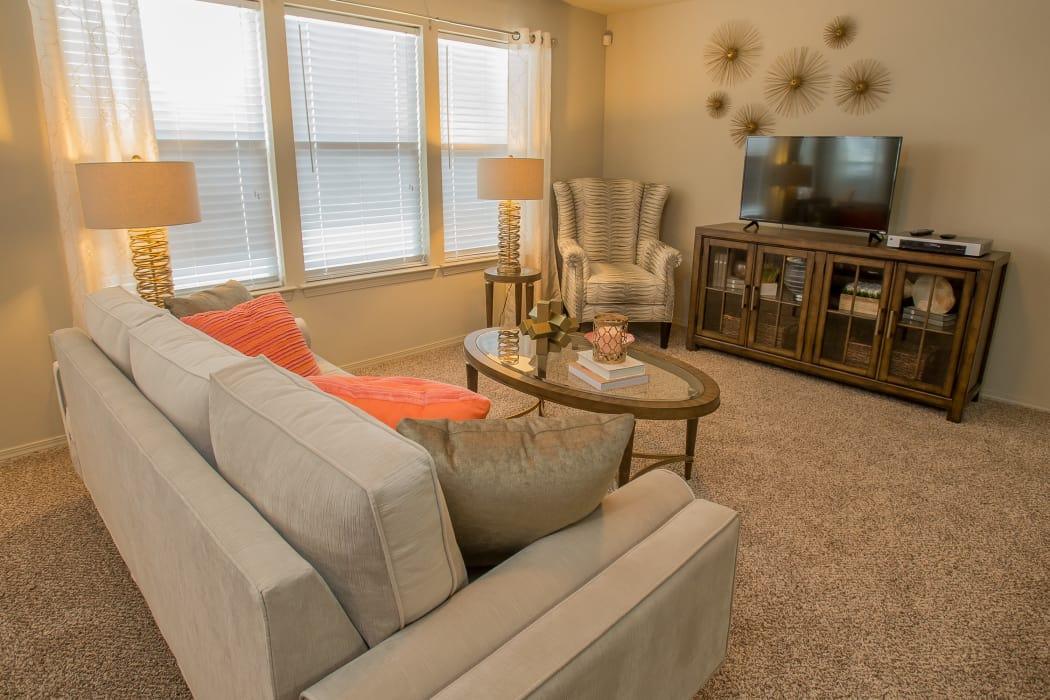 Wonderful living room at Icon at Corpus Christi in Corpus Christi, Texas