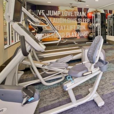 Onsite fitness center at Mia in Palo Alto, California