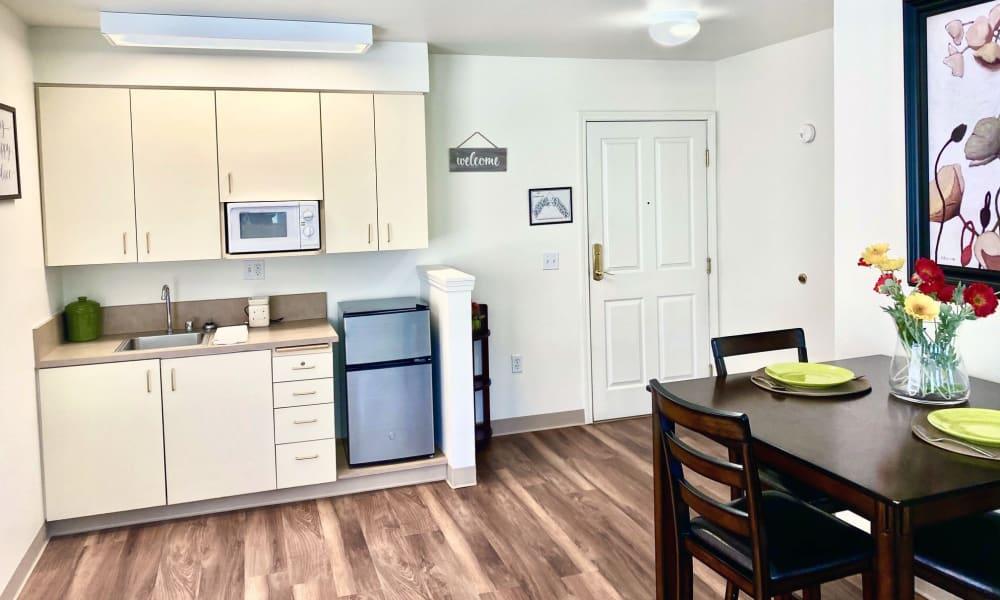 Kitchen Area at Evergreen Senior Living in Eugene, Oregon