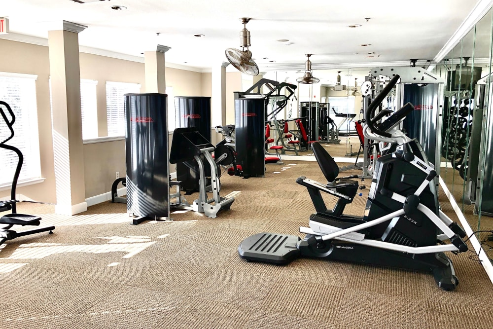 Gym at The Abbey on Lake Wyndemere in The Woodlands, TX