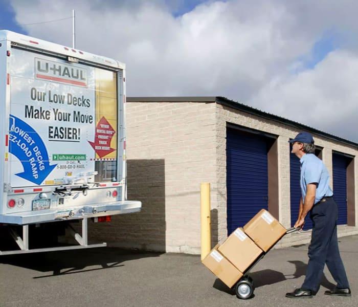 Midgard Self Storage in Murfreesboro, Tennessee, has moving trucks for rent