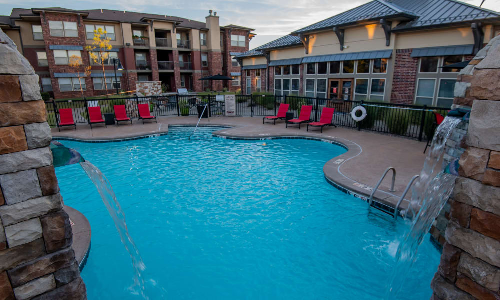 Resort style pool at Icon at Norman in Norman, Oklahoma