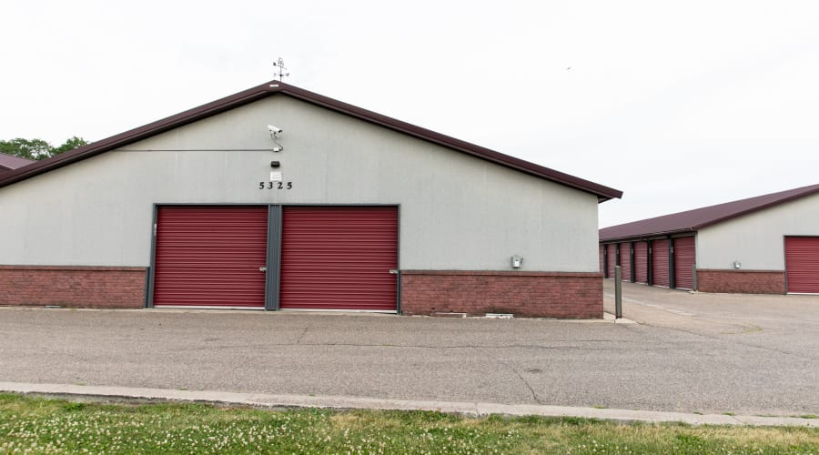 Storage units with red doors at KO Storage of Maple Plain in Maple Plain, Minnesota