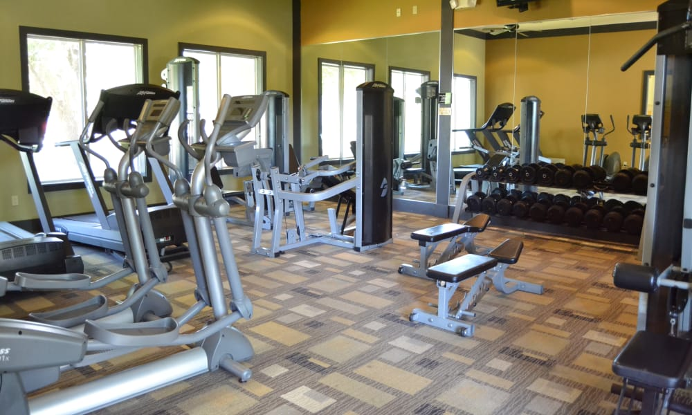 Fitness center at Club at Stone Oak