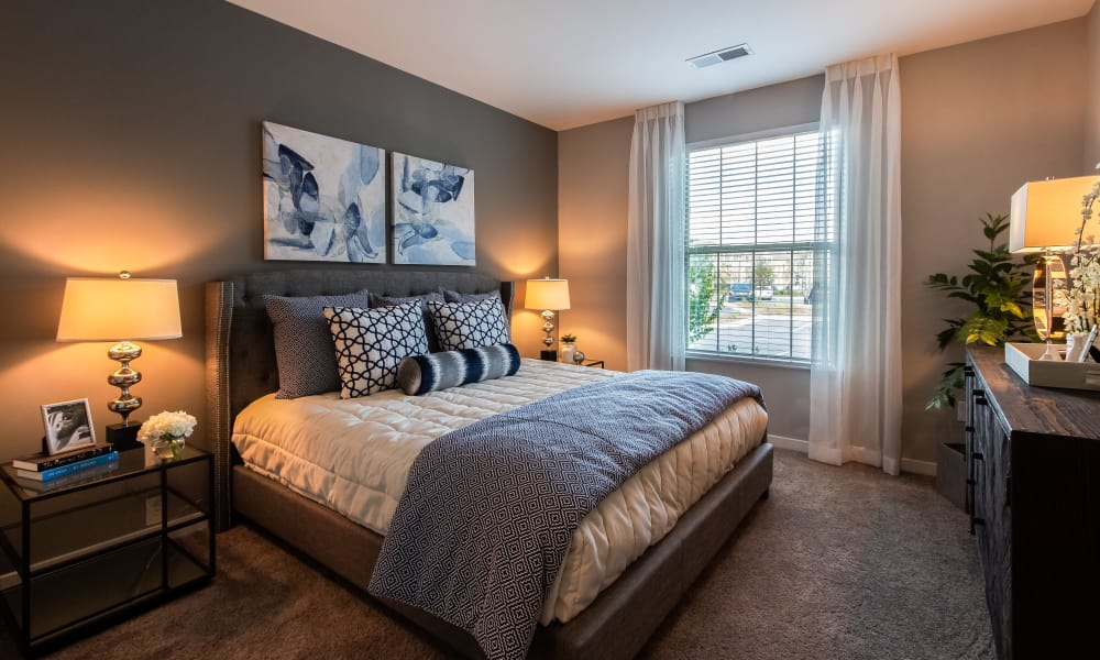 Beautiful bedroom at Alta Brighton Park in Summerville, South Carolina