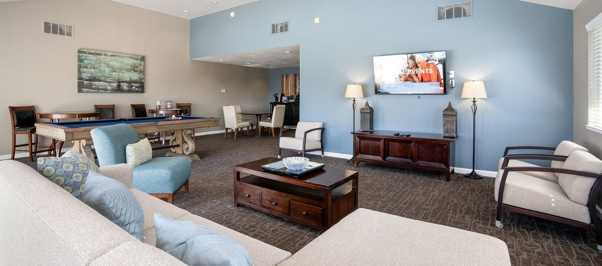 Community clubhouse at Ridgecrest Apartment Homes in Martinez, California
