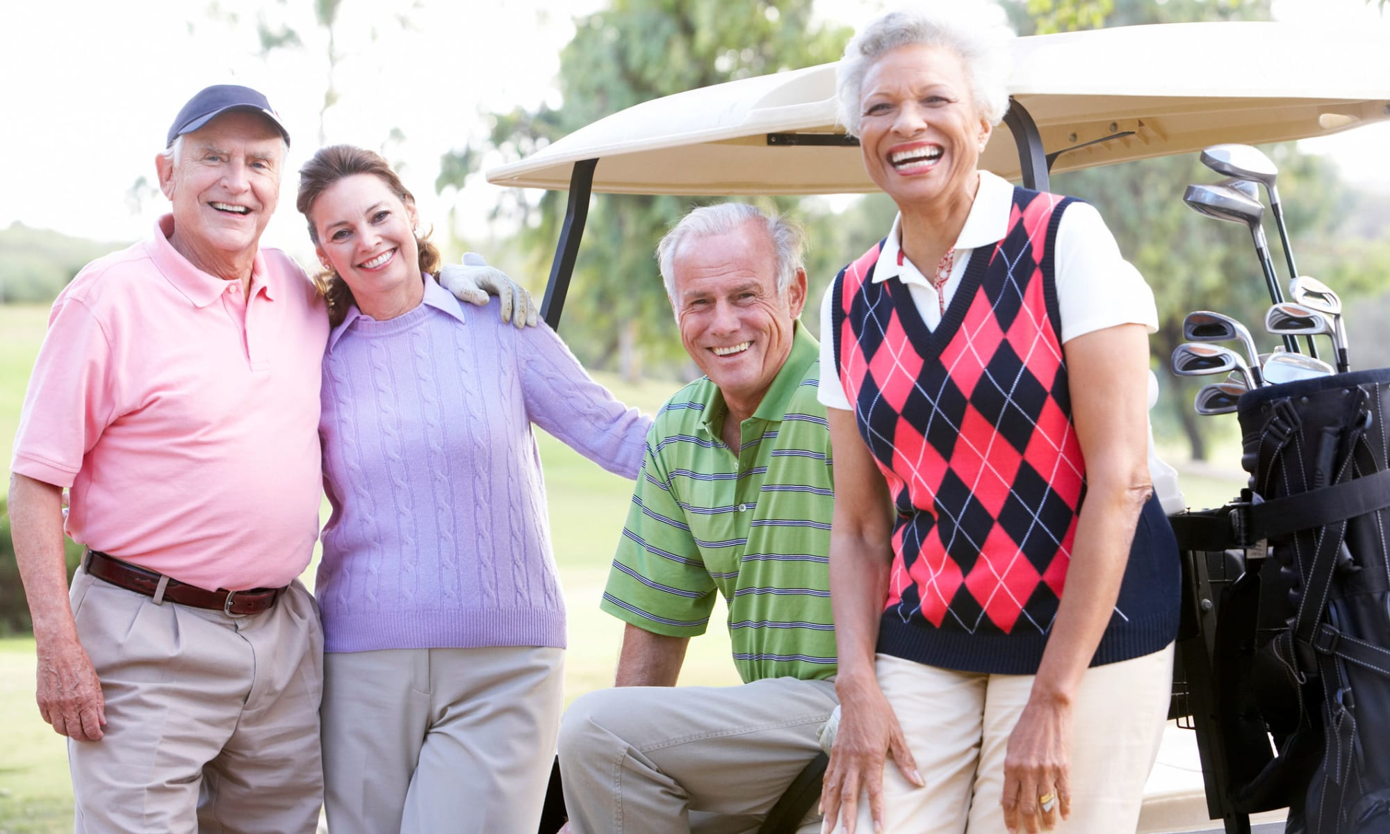 Residents golfing nearby Broadwell Senior Living in Kearney, Nebraska