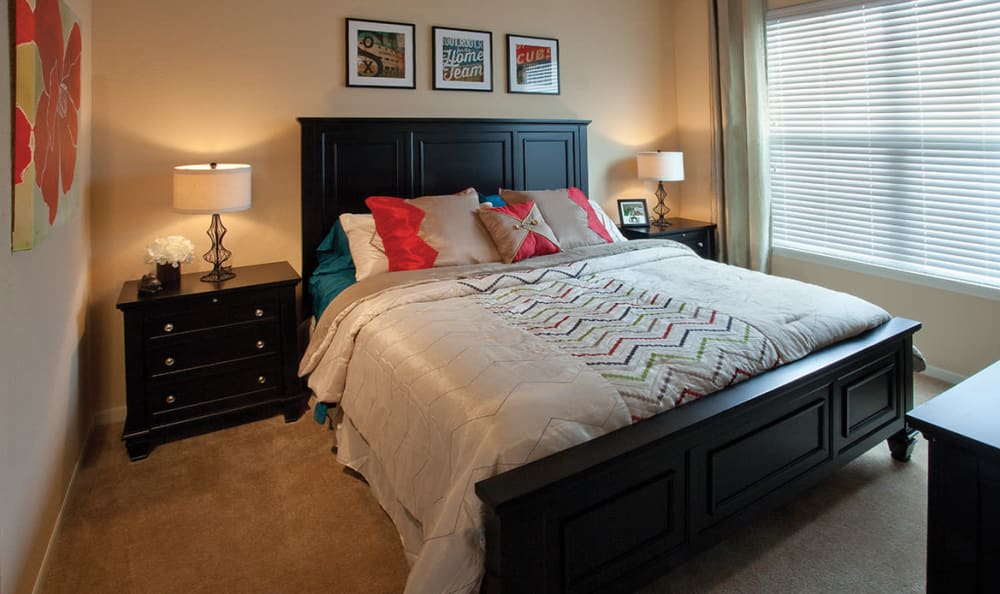 Spacious bedroom at Springs at Memorial in Oklahoma City