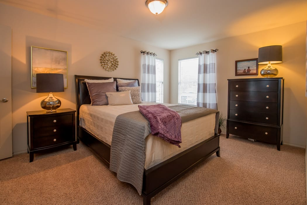 Beautiful bedroom at Prairie Springs in Oklahoma City, Oklahoma