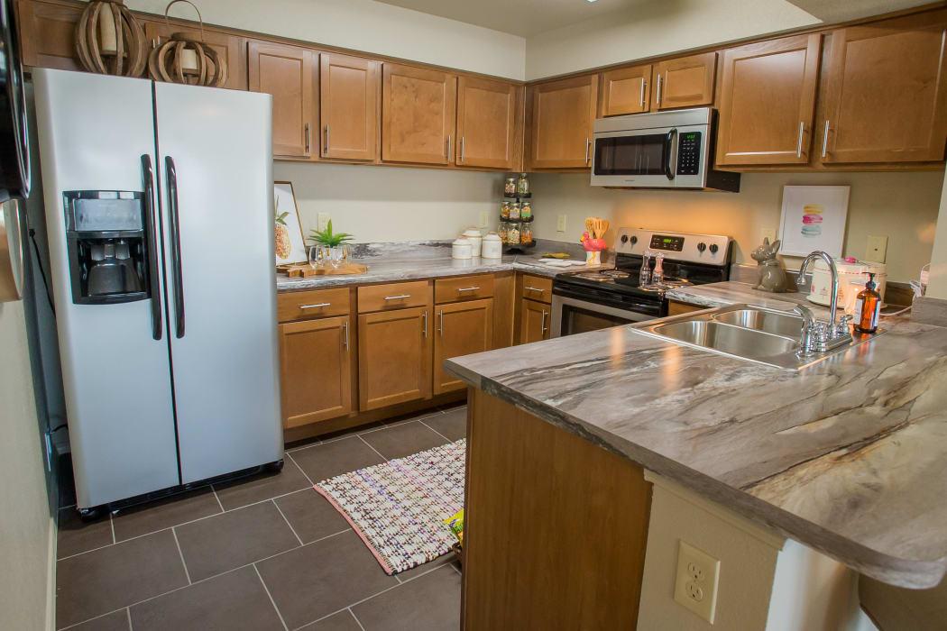 Spacious kitchen at Tuscany Ranch in Waco, Texas