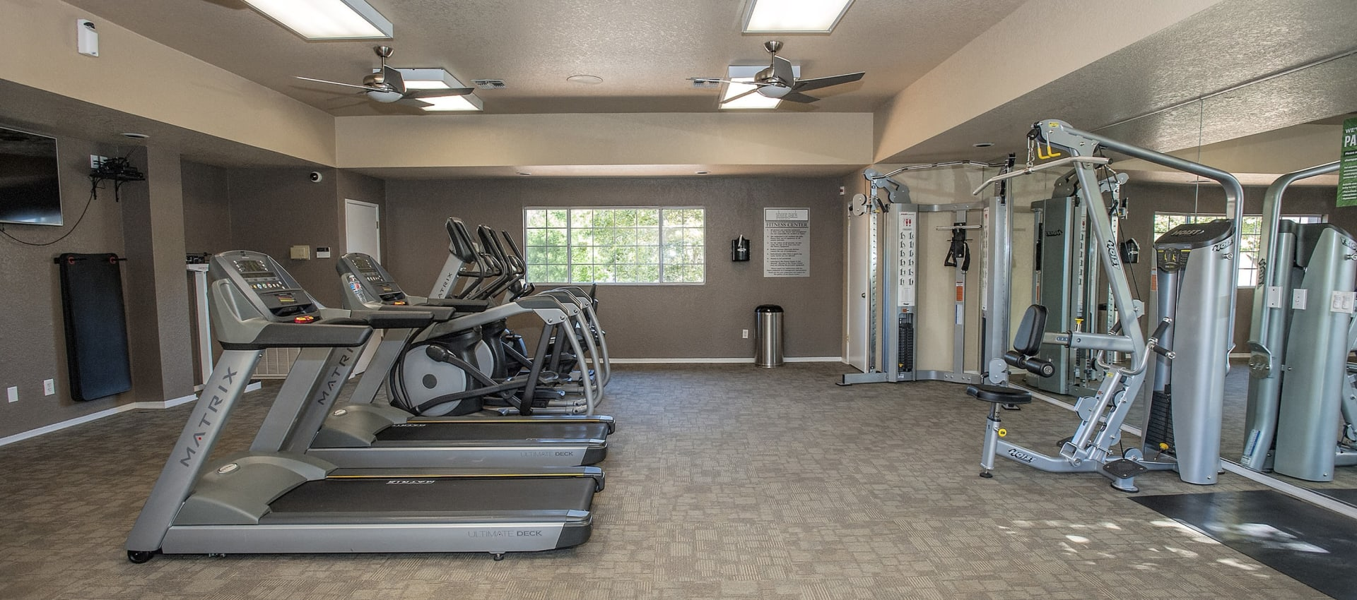 Fitness center at Shore Park at Riverlake in Sacramento, California