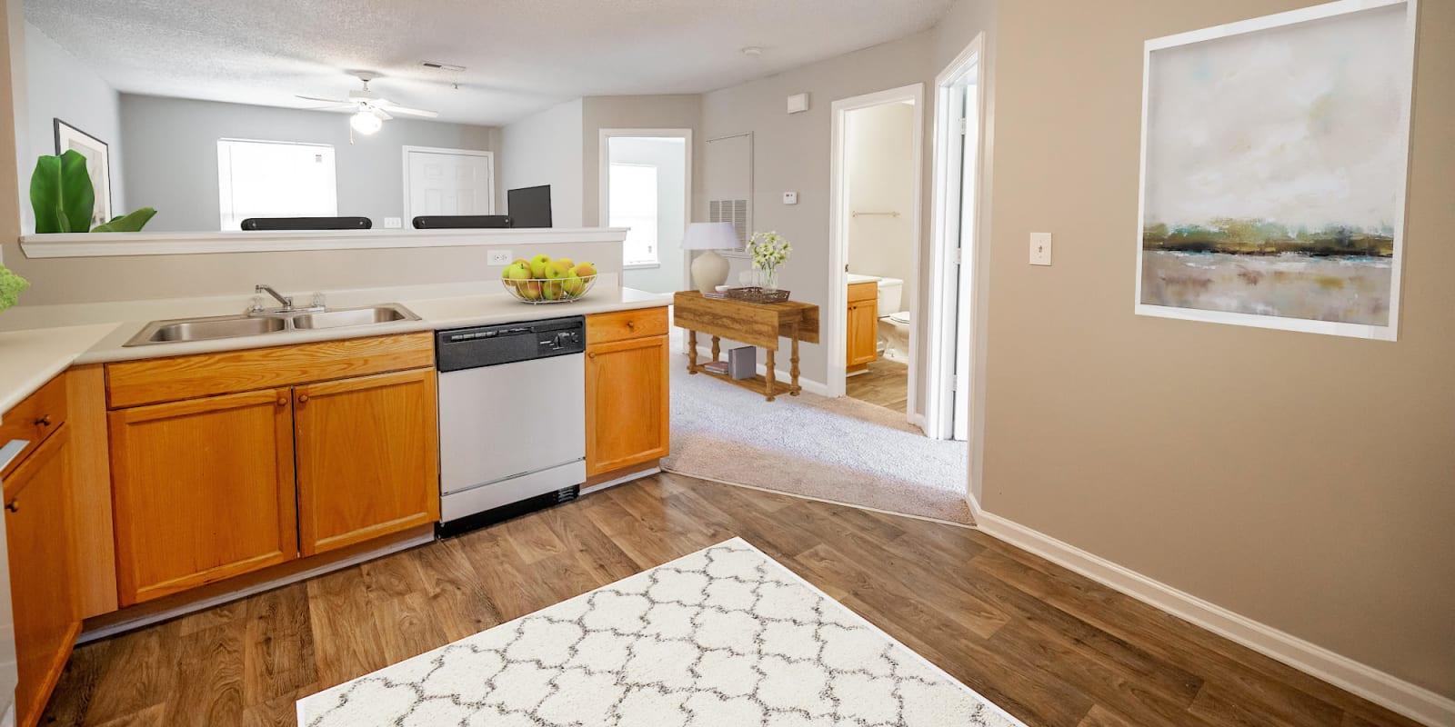 Kitchen at Kannan Station Apartment Homes in Kannapolis, North Carolina