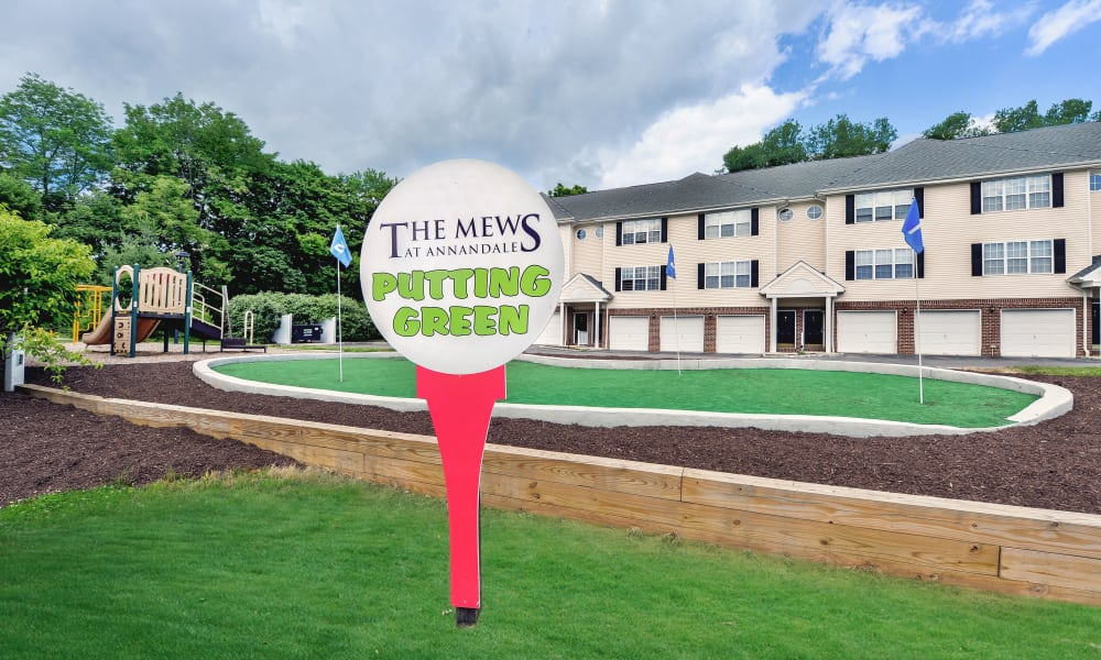 Putting green at Mews at Annandale Townhomes