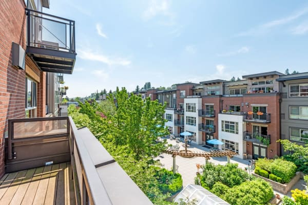 Back patio view from The Corydon managed by Pillar Properties