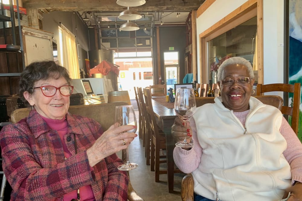Two residents from our community in Seattle, WA enjoying a happy hour downtown