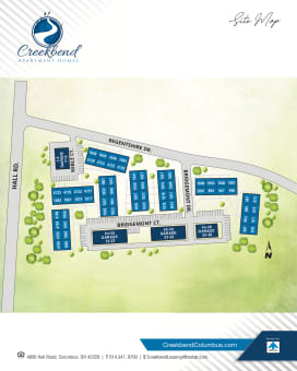 Creekbend Apartments site map