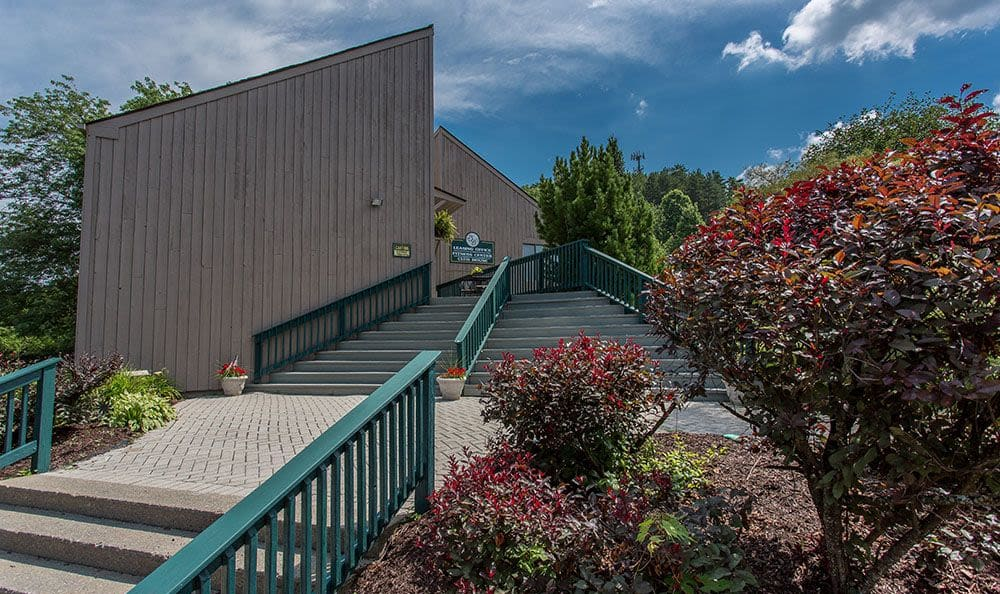Walkway at Steeplechase Apartments in Camillus, New York
