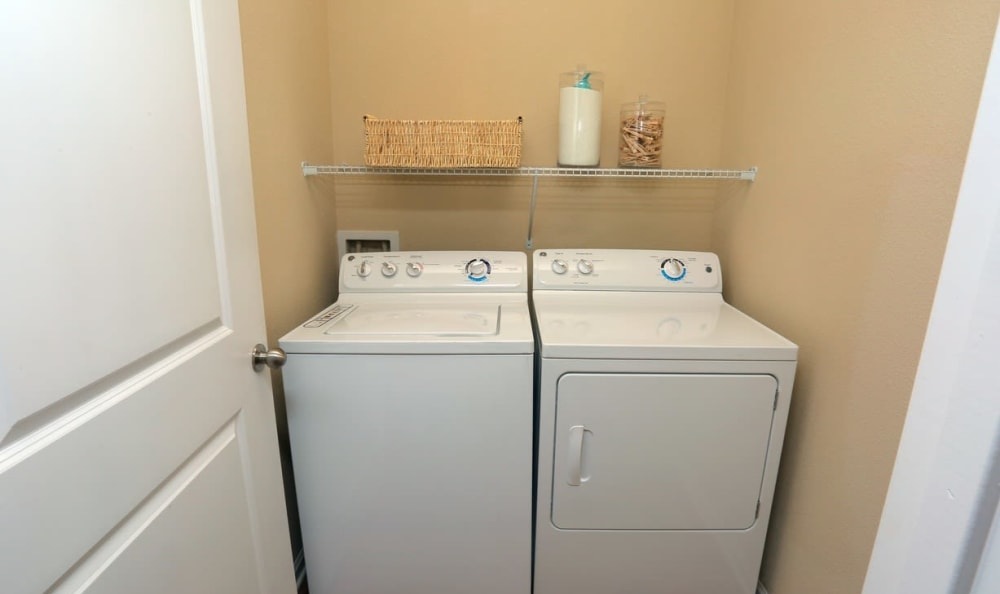 In-unit laundry at Springs at Memorial in Oklahoma City