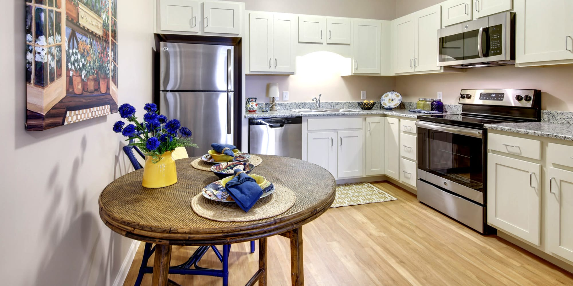 A spacious kitchen in a Keystone community