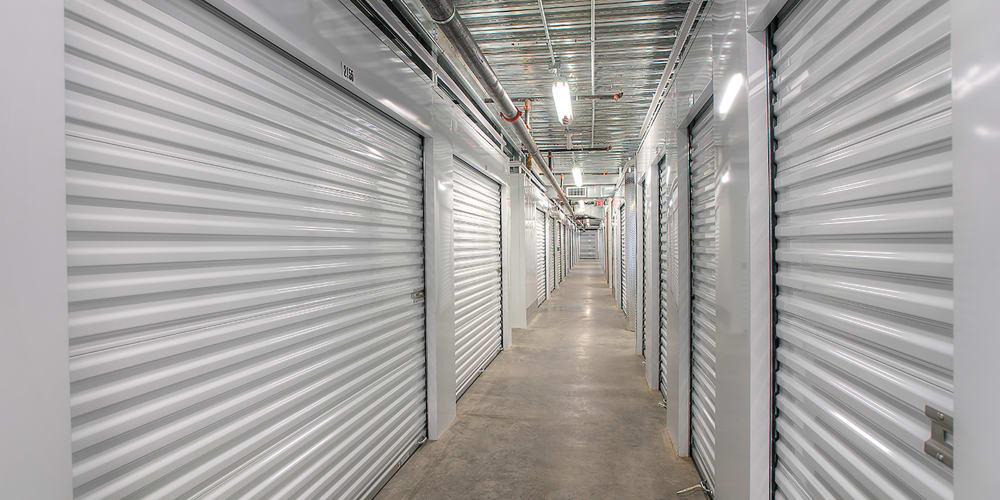 Indoor storage units at StorQuest Self Storage in Waipahu, Hawaii