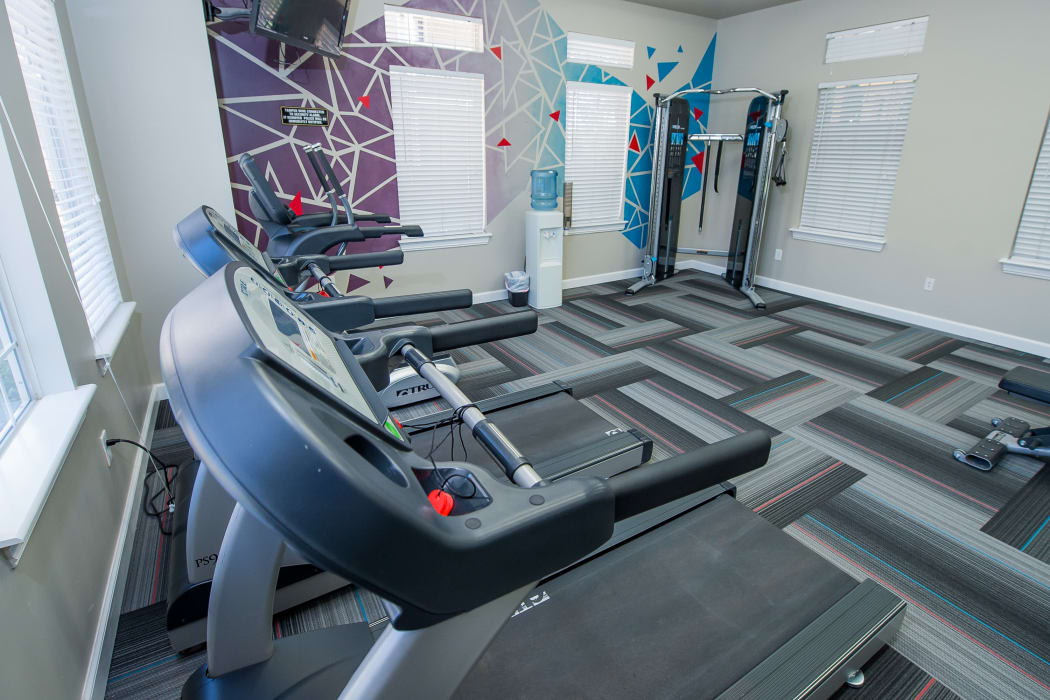 Fully equipped gym at Fountain Lake in Edmond, Oklahoma