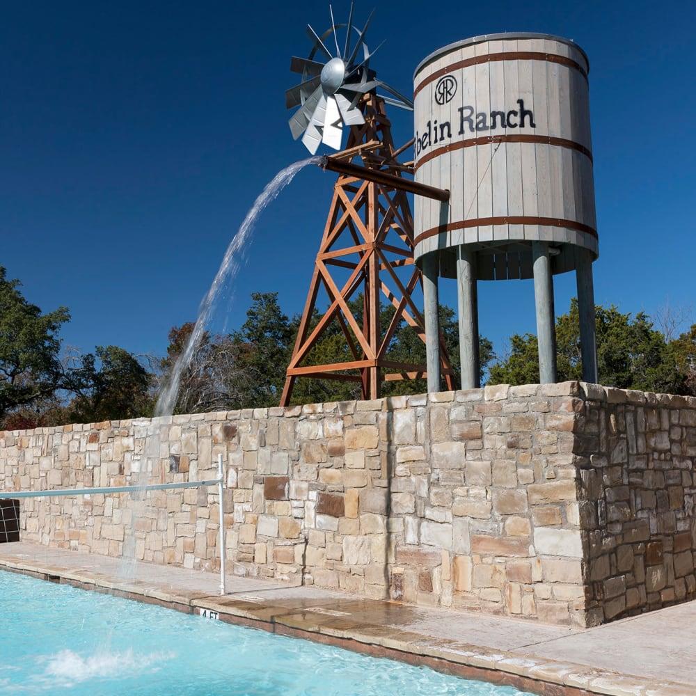 Windmill Watertower at The Asten at Ribelin Ranch in Austin, Texas