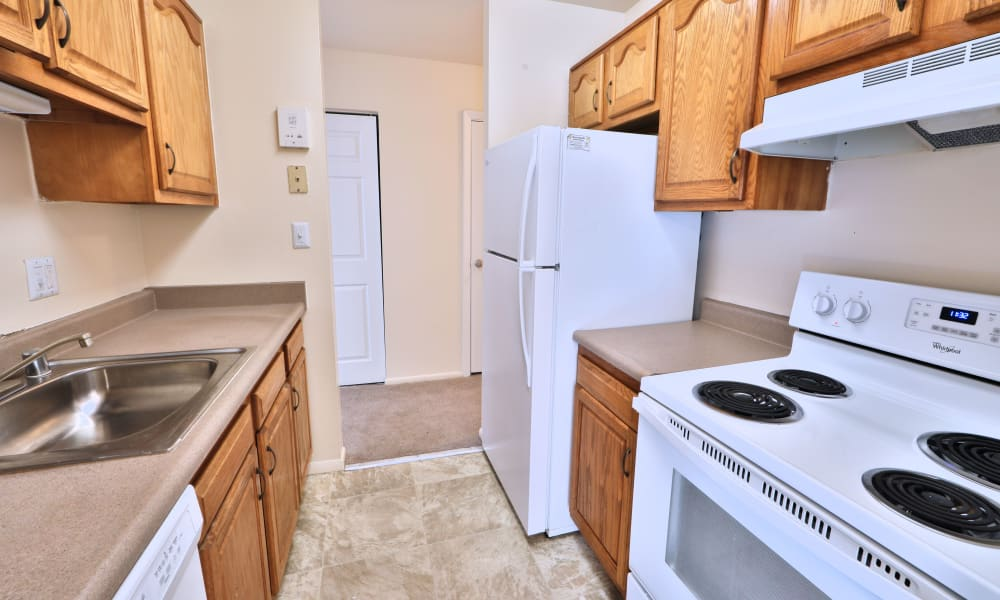 Kitchen at Morningside Apartments & Townhomes in Owings Mills, Maryland