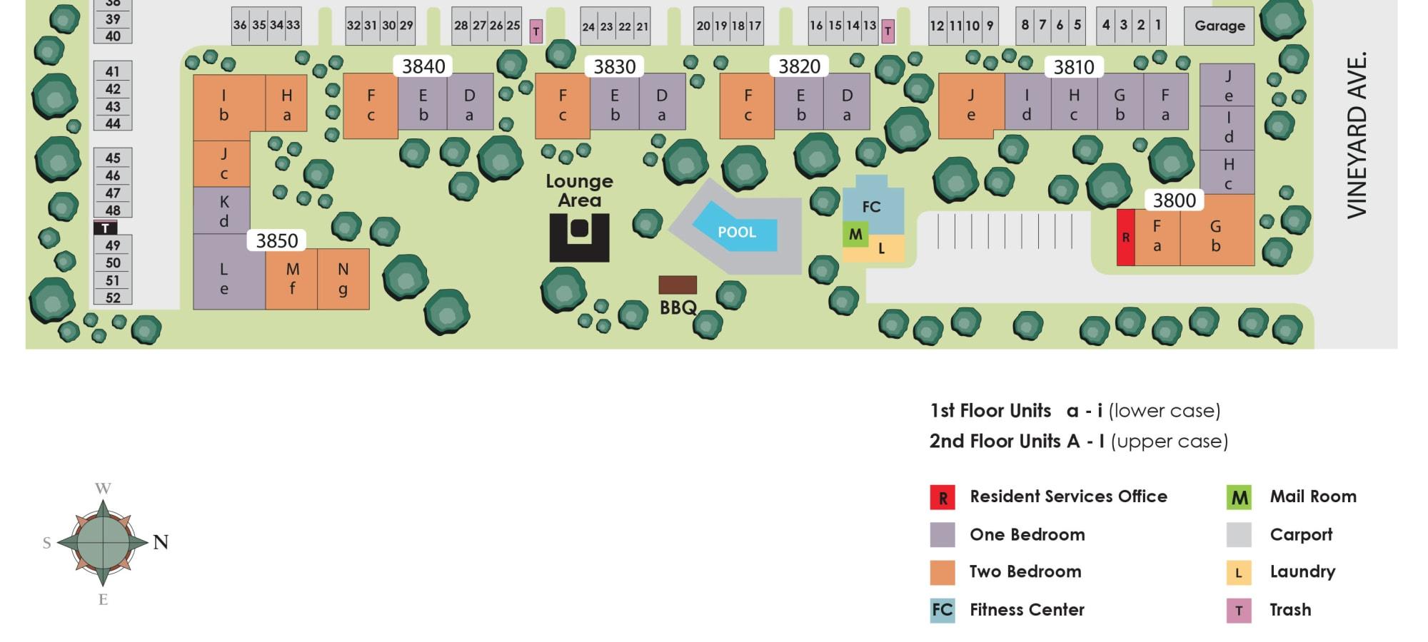Site plan for Pleasanton Heights in Pleasanton, California