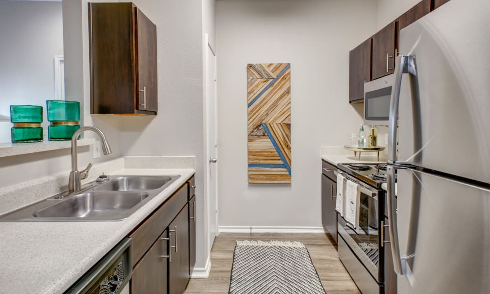 Kitchen at Arya Grove in Universal City, Texas