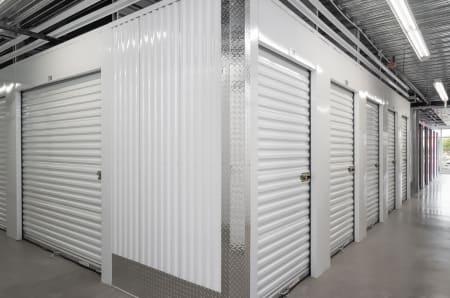 Small indoor storage units at StorQuest Self Storage in Fresno, California