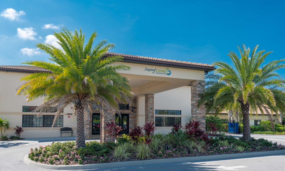 Main entrance at Inspired Living in Sarasota, Florida