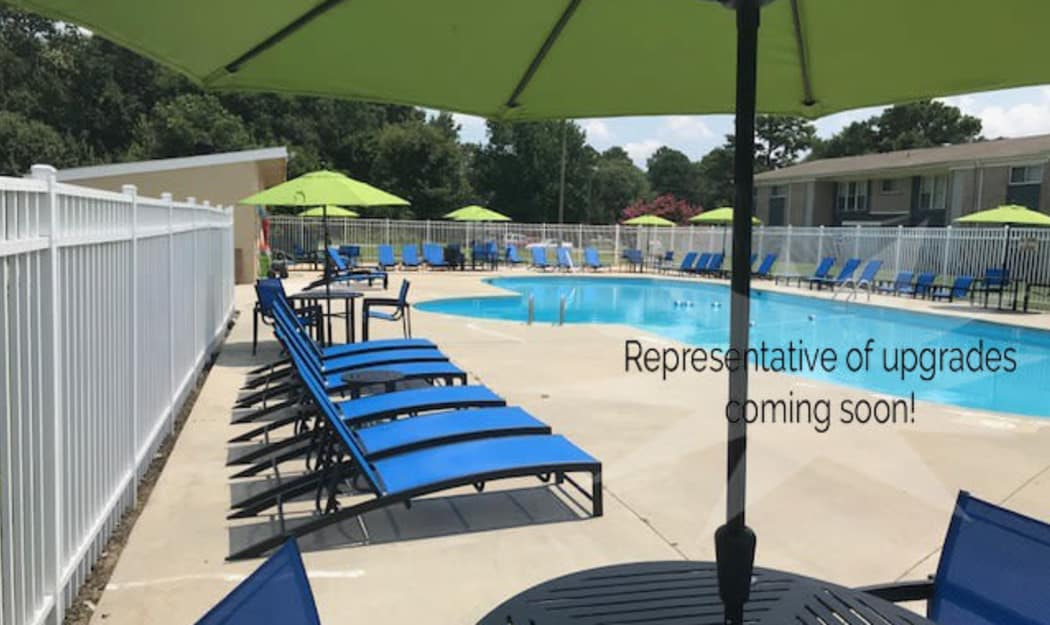 Sparkling pool at The Residences at Forest Grove in Newport News, Virginia