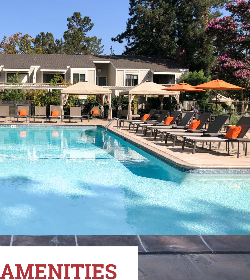 View amenities at Glenbrook Apartments in Cupertino, California