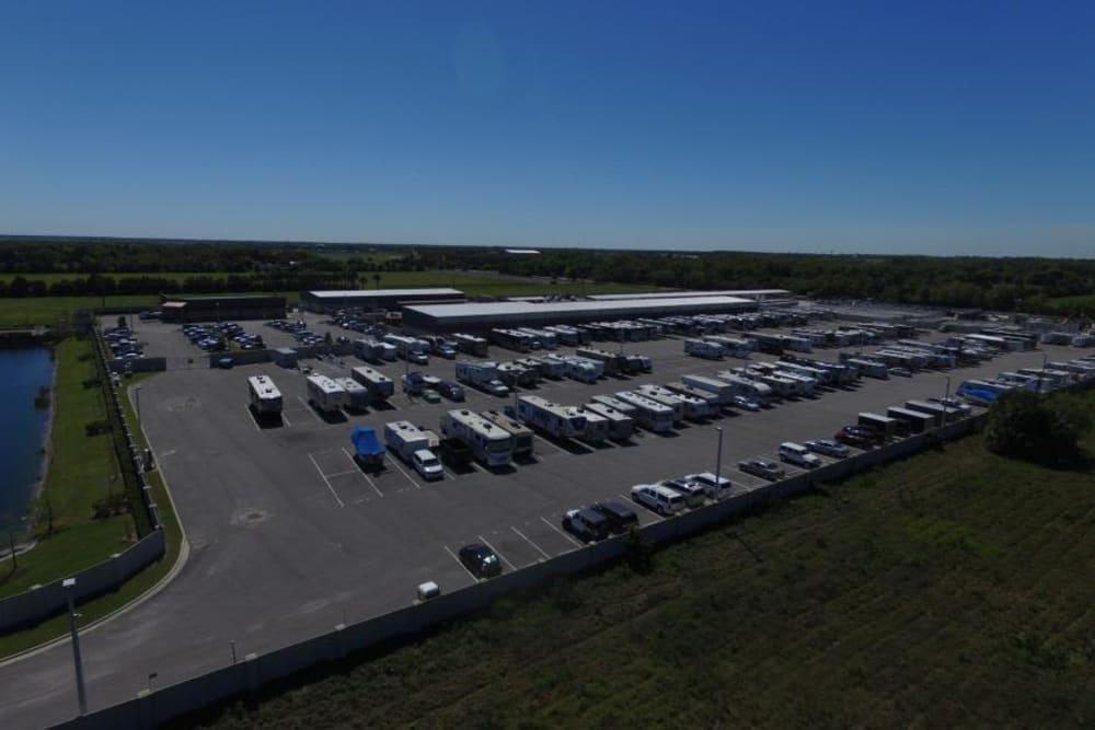 Outdoor parking lot at Stor 4 Dayz in Sanford, Florida