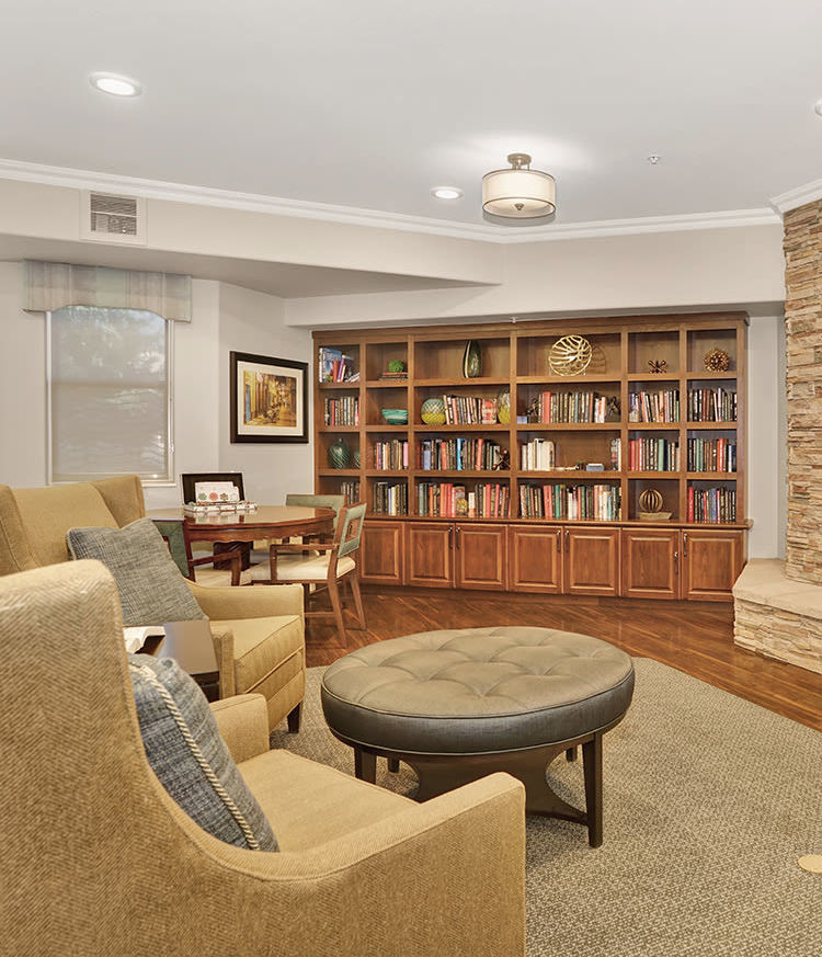 The library room at The Palisades at Broadmoor Park