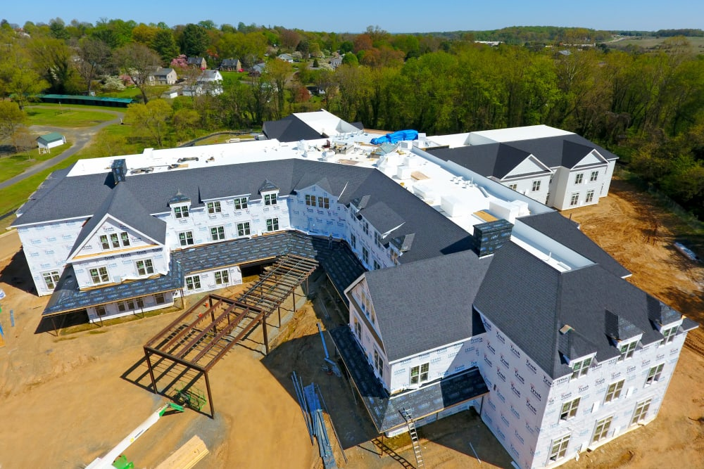 White Springs Construction Picture Side Ariel in Warrenton, Virginia