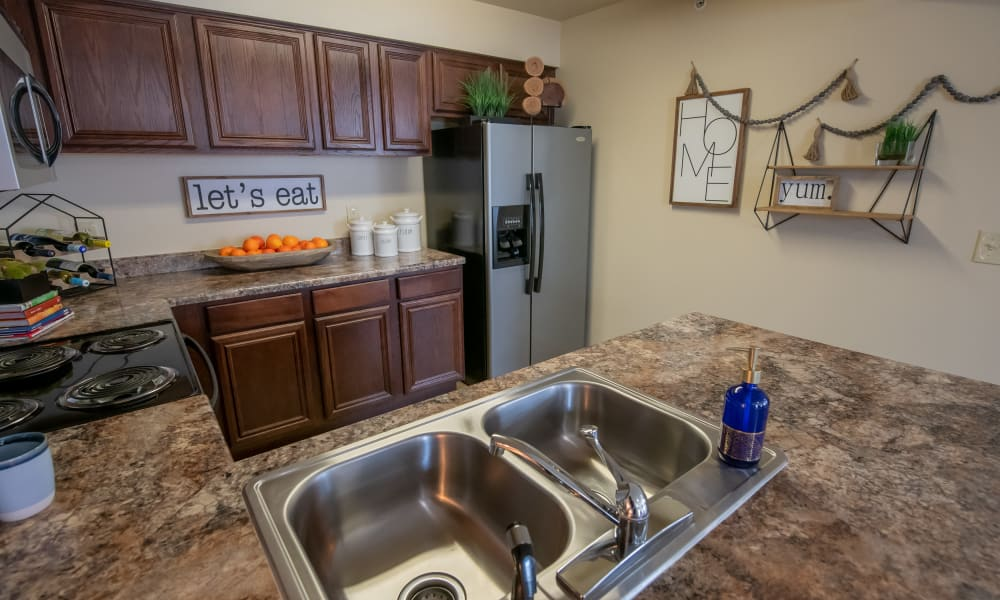 Spacious kitchen at Coffee Creek Apartments in Owasso, Oklahoma
