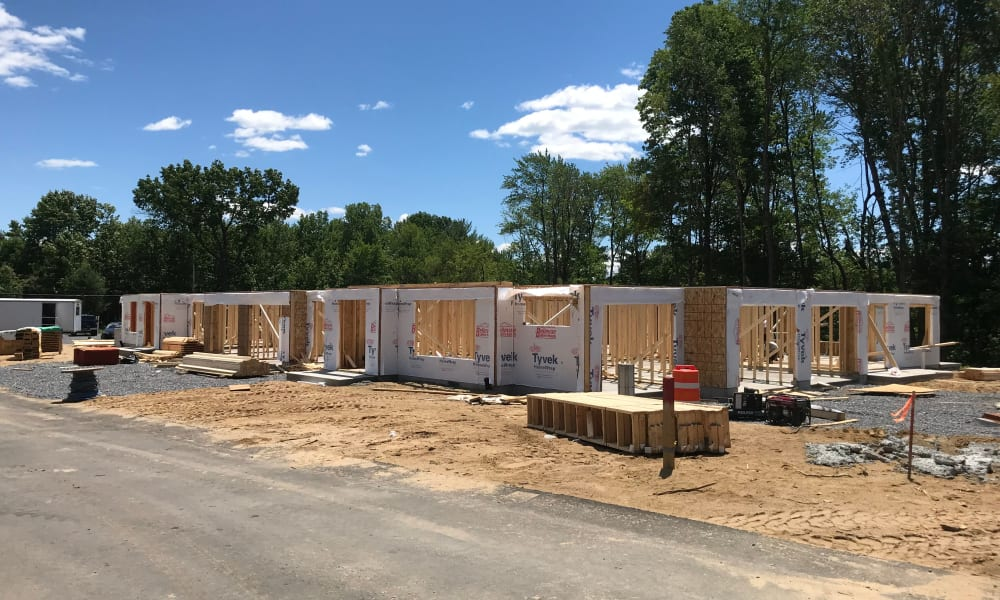 Enclave 50 under construction in Ballston Spa, New York
