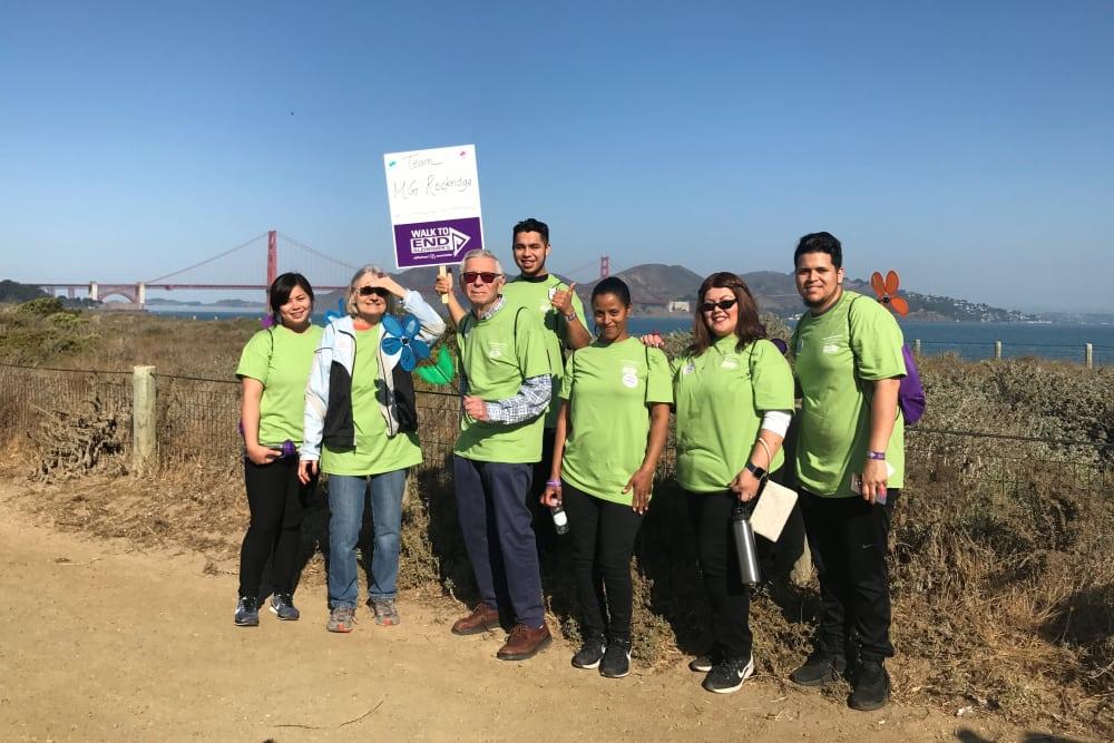 Alzheimer's Walk for Merrill Gardens at Rockridge in Oakland, California