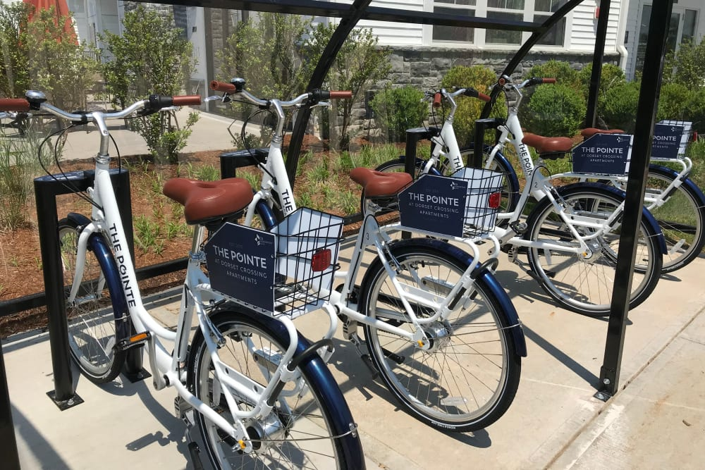 The Pointe at Dorset Crossing offers sharing bikes in Simsbury, Connecticut