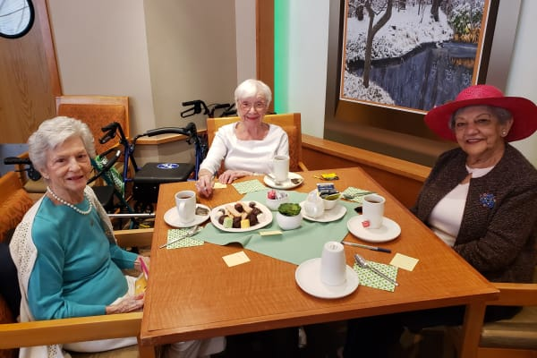 Ladies enjoying their social event at All Seasons of Rochester Hills in Rochester Hills, Michigan