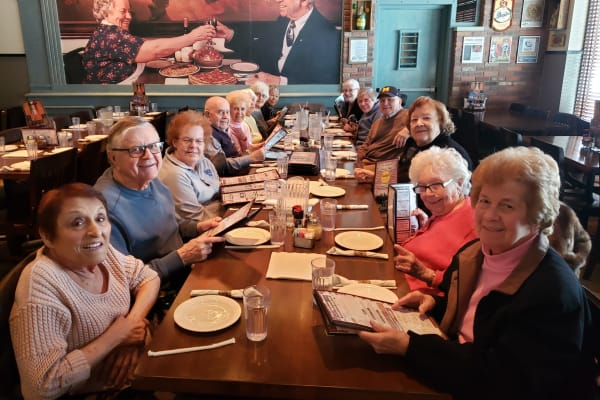 Resident enjoy a lunch at Buddy's near All Seasons of Rochester Hills in Rochester Hills, Michigan