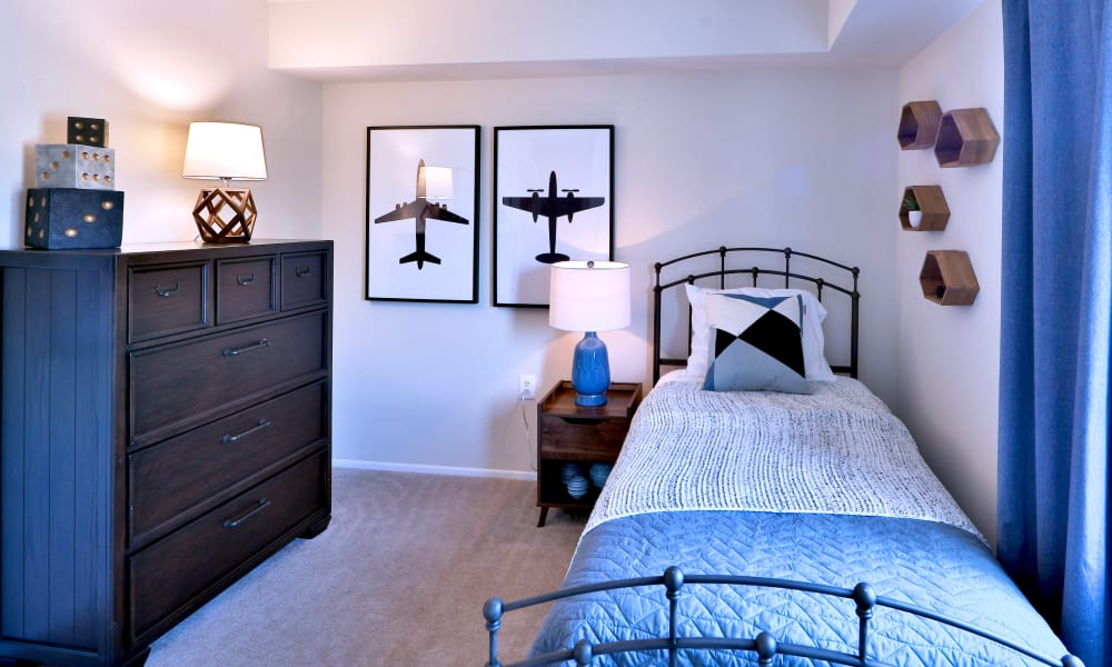 Bedroom at The Willows Apartment Homes in Glen Burnie, MD