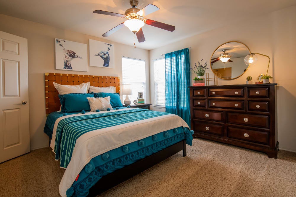 Large bedroom at Colonies at Hillside in Amarillo, Texas