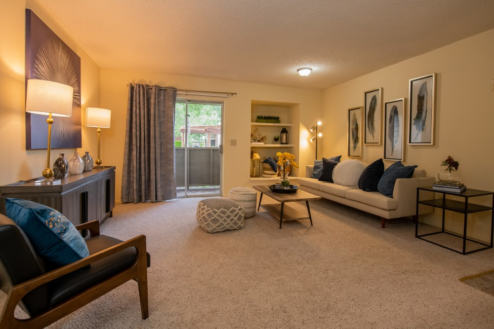 Large living space in apartment at Newport Apartments in Amarillo, Texas