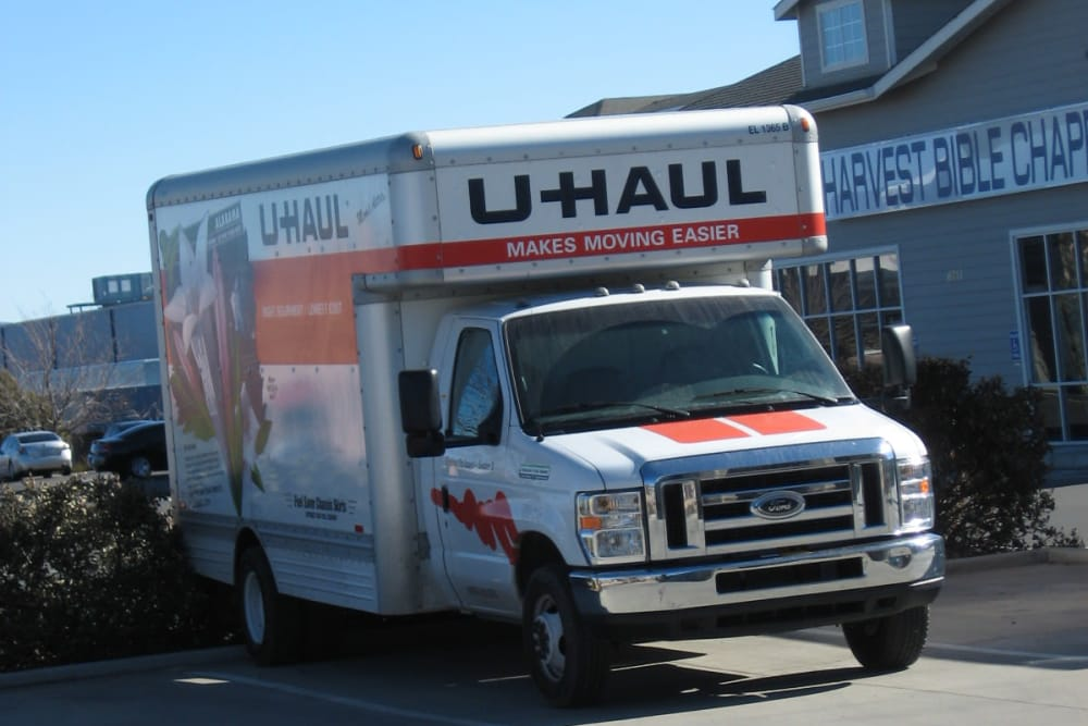 U-Haul truck for rent at Budget Mini Storage