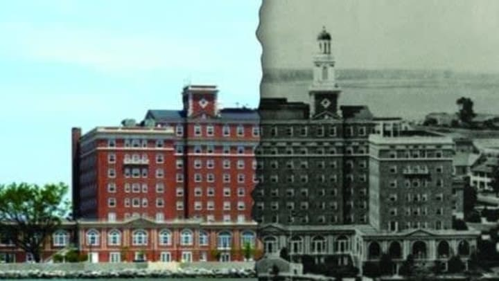 A then and now photo of The Chamberlin
