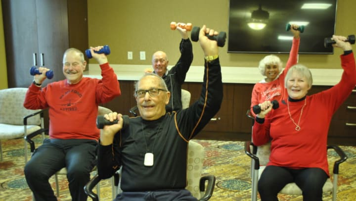 residents staying active in the winter
