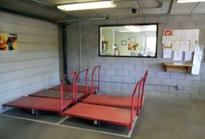 Inside a storage facility in Yuma AZ at American Self Storage