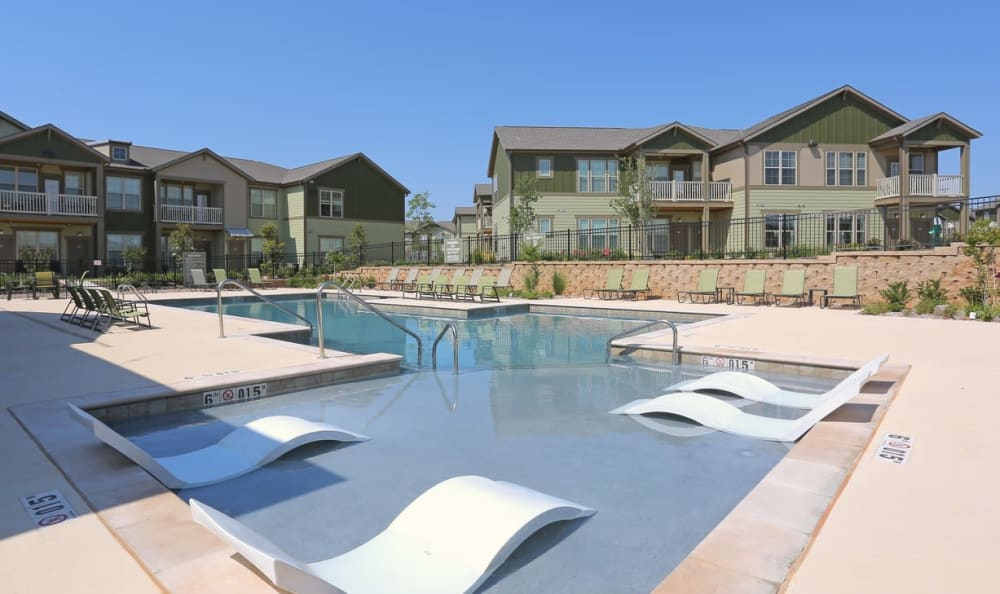 Resort style pool  at Springs at Memorial in Oklahoma City